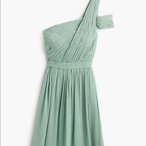 J Crew NWT Silk Cara Dress Sz 10-Dusty Shale